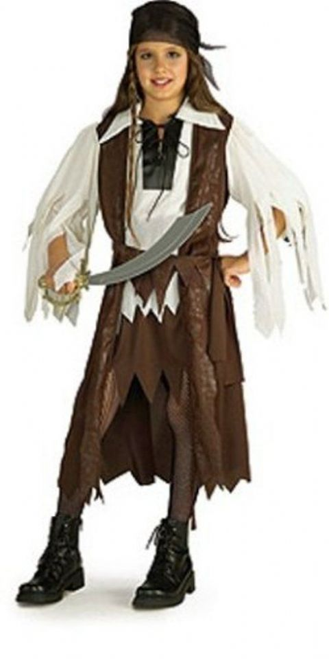 Girls Pirate Queen Fancy Dress Costume (Age 8 - 10)